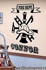 Fire DEPT Symbol Engine 27 Firefighter Firetruck Vinyl Wall Decal Art kids Room