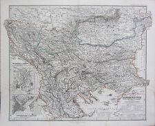 1870 en Date Du Carte ~ Bulgarie Macédoine Albanie Roumanie ~ Sombre Adolf
