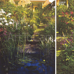 """24W""""X32"""" STEPS TO THE LILY POND by PHILIP CRAIG GARDEN PATH HOUSE STAIRS{ CANVAS"""