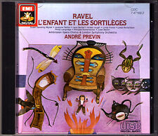 Previn: Ravel L'enfant Et Les Sortileges CD Arleen Auger Philip Langridge Finnie