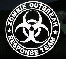 Zombie Outbreak Response Team Biohazard Vinyl Decal  hunter wall vehicle sticker