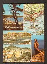 ILE DU LEVANT (83) NATURISME & CARTE GEOGRAPHIQUE en 1966