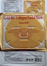 DreamMi 10 PCS Gold Bio Collagen Facial Face Mask + 10 Pairs G Eye Pad
