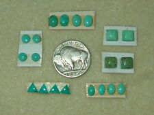 OLD STOCK Lot of 20 pcs Mixed Shapes Natural Turquoise Calibrated Cabs