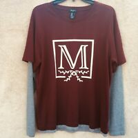 Forever 21 Layered style Men's long sleeve t shirt Burgundy size Medium