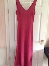 PRINCIPLES Dark Pink Sleeveless Embroidered  Long Length Dress Size 10