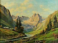 A. REINHARDT 1890 - 1965 - Höllental Zugspitze Garmisch