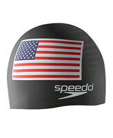 Speedo Silicone Flag Swim Cap - Black