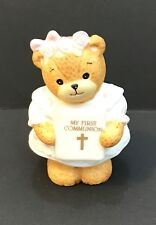 Lucy & Me 1st Holy Communion Girl Bear; Free Priority Shipping!
