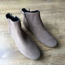 BNWT M&S Ladies Mink Suede Ankle Boots - Size UK 8 - RRP £39.50