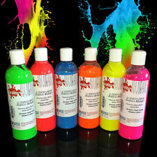 6 x 300 ml Ready Mixed Poster Paint Neon Colours