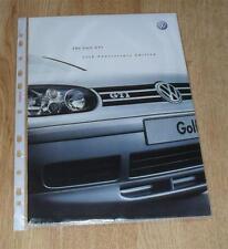 VOLKSWAGEN VW GOLF GTI 25th Anniversary Edition FOLLETO 1.8 20v Turbo 1.9 TDI