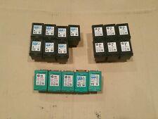 Lot of 18 HP *EMPTY*USED* Printer Ink Cartridges, Black HP 92 & Color HP 93