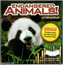 ENDANGERED ANIMALS! A Fast Fact Fold-Out Panoramic View Book for Kids Ages 5+