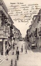 Fossano, Cuneo - Via Roma - Viaggiata 1913 - CN447