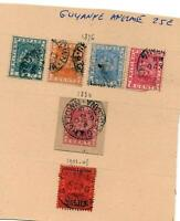 Anciens timbres colonies anglaises Guyanne anglaise
