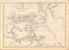 1863  LARGE ANTIQUE MAP - DISPATCH ATLAS- ARCTIC REGIONS OF NORTH AMERICA