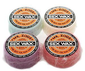 Sex Cire Mr. Zogs Original Orange Cool Eau Cire de Surf Plaque de Surf Cire
