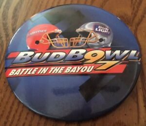Bud Bowl 97 Battle In The Bayou pin back