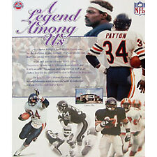 """Walter Payton """"A Legend Among Us"""" 16X20"""" poster Chicago Bears"""