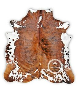 Cowhide Rug - Brindle Tricolor High Quality Kuhfell (M)(L)(XL)(XXL)