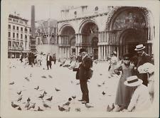 Italie, Venise, Entrée de la Basilique St-Marc, ca.1905, vintage citrate print V