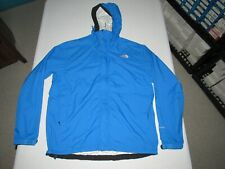 THE NORTH FACE MEN'S HYVENT BLUE ZIP UP HOODED RAIN COAT JACKET SIZE L