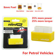 New OBD2 Performance Chip Tuning Box OBD2 Plug & Drive Saver for Gas/Petrol Cars