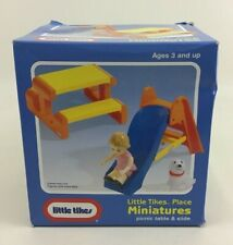 Little Tikes Dollhouse Places Picnic Table and Slide 5594 Vintage 1992 New Box