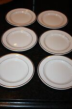 "Wedgwood ""Metallised"" Bone China Set of 6 Salad Plates Made in England"