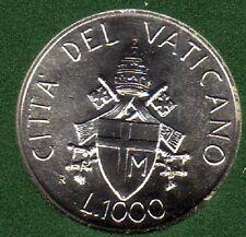 VATICANO - Papa Giovanni Paolo II - 1000 Lire argento 1989 FDC