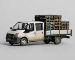 Oxford Diecast 76TPU005 Ford Transit Dropside -  Pallet Load