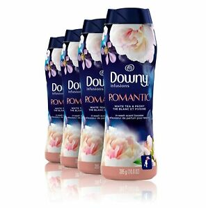 Downy Infusions in-Wash Booster Beads, Romantic, White Tea & Peony, 10 Oz. 4 Ct.