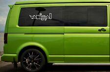 vw Volkswagen camper t4 t5 side panel / window vw vanimal vinyl sticker decal x2