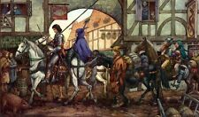 Medieval Riders by David Wenzel  FANTASY ART PRINT