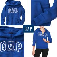 SZ XL 🆕 GAP Hoodie Pullover Fleece Sweatshirt Full Zip Women's Arch Logo 💰$50
