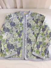 APPLESEED��S PETITES QUILTED JACKET Petite Medium Floral Cotton