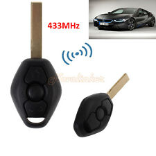 Remote Key Fob 433MHz TRANSPONDER CHIP W/ Blade For BMW E46 E39 3 5 7 Z3 M3 M5