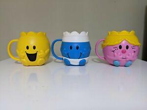 Mcdonalds Mr Men Happy Meal Cups, Little Miss Princess Mr Bump & Mr Happy 2020