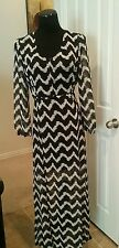 NEW Size L Black and White Chevron Inspired Design GB Dress