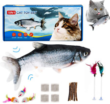 New listing Fish Toys Set 5 in 1 Motion Sensor Cat Toy with 4 Catnip Packets Interactive Toy