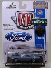 BLUE 1968 MERCURY COUGAR R CODE M2 MACHINE 1:64 SCALE DIECAST METAL MODEL CAR