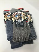 5 Pair ROCKY Hiker Socks Medium Wool Blend Blue Brown New in Package