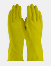 Yellow Latex Household Cleaning Dishwashing Gloves – 3 Pairs (6 Gloves) - Large