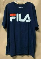 FILA Men's Logo Short Sleeve T-Shirt; Color: Navy | 50% Cotton | New with Tag!!