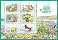 GUERNSEY 2006 L'EREE WETLANDS RAMSAR SITE SET OF 6 + Miniature Sheet