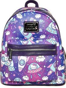 Loungefly Hello Kitty Spaceships Print Mini Backpack