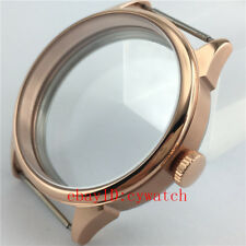 42mm Rose Gold Stainless Steel Watch Case Fit ETA 6497/6498,Seagull ST3600/3620