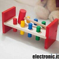 Table De Jeu Avec Hammer en Bois Marionnettes Bois Toys