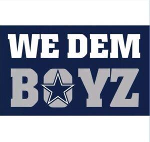 Dallas Cowboys Flag Banner 3x5Ft NFL Football We Dem Boyz Super Bowl Sports Team